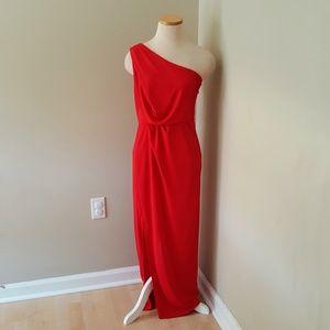 BCBG MaxAzria XS Snejana Red Berry Maxi Dress